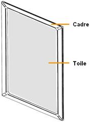 Moustiquaire sur mesure moustiquaire cadre fixe equilibre - Moustiquaire fenetre sur mesure ...